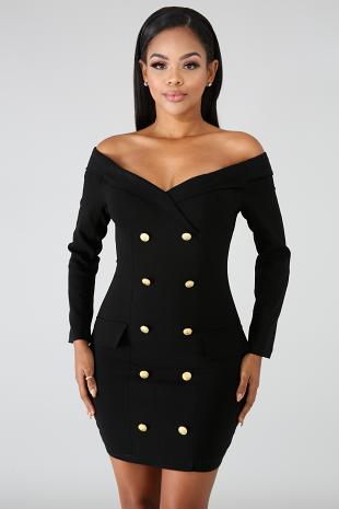 Button Tux Dress