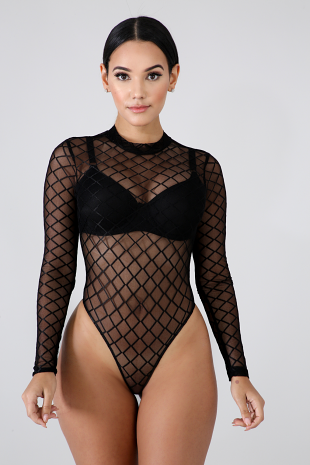 Diamond Lace Bodysuit