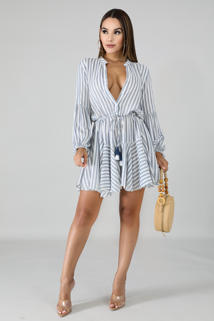 Flare Stripe Dress