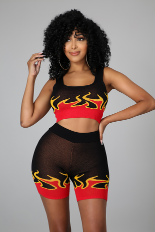 Hot For You Boo Short Set