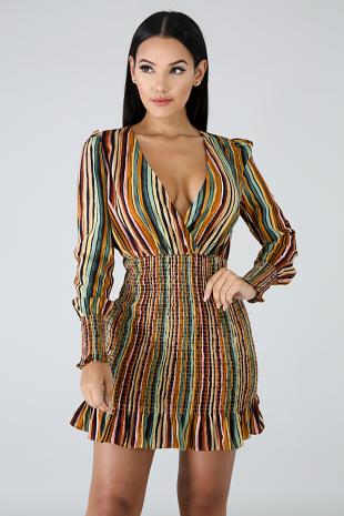 Accordion Silky Dress