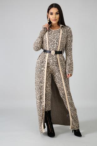 Cougar Kimono Set