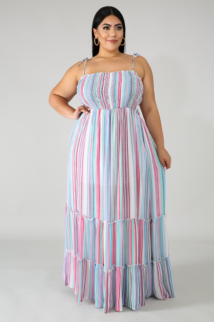 Accordion Maxi Dress