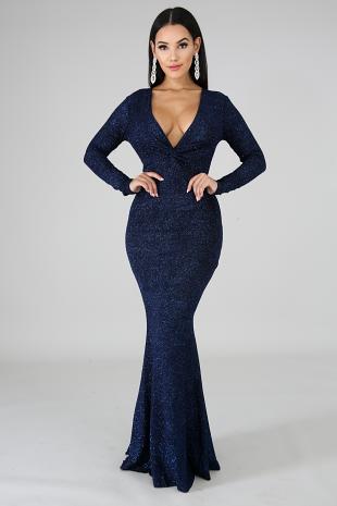 Glitter Mermaid Maxi Dress