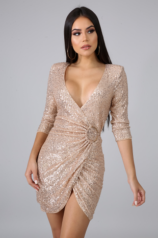 Keeping Sequins Body-Con Dress
