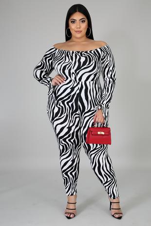 Wild Stripes Jumpsuit