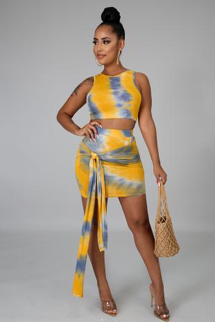 Fly Tie Dye Skirt Set
