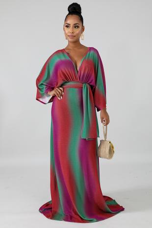 Sparkle Kimono Maxi Dress