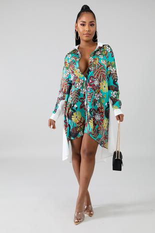 Tropical Blossom Tunic