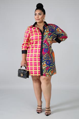 Paisley Plaid Dress