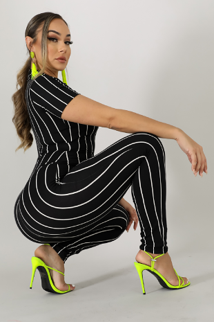Flannel Stripe Jumpsuit