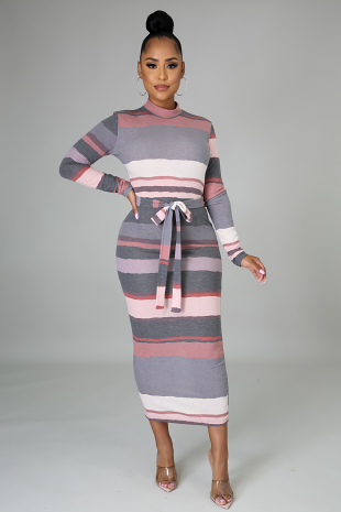 Feeling Some Stripe Of Way Dress