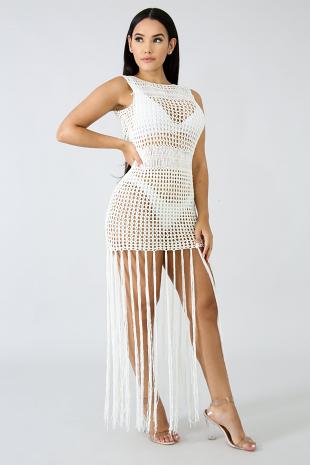 Crochet Fringe Cover Dress