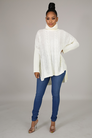 Knit Braid Sweater Top