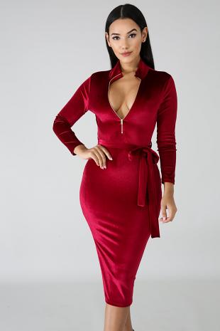 Velvet Silhouette Dress