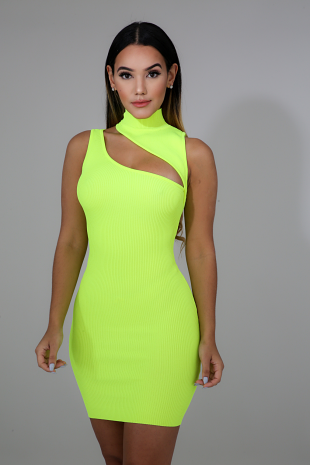 Neon Slash Dress