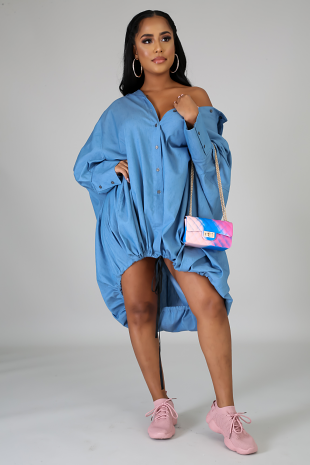 Oversized Denim Tunic