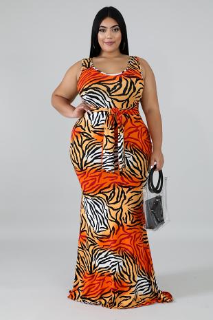 Fierce Stripes Mermaid Dress