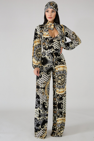 Masonic Filigree Jumpsuit