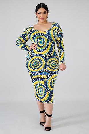Pinwheel Body-Con Dress