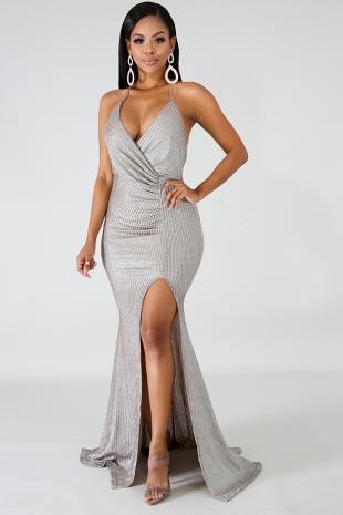 Roche Slit Maxi Dress