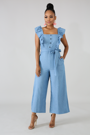f1ea5eb44920 Betty Denim Jumpsuit