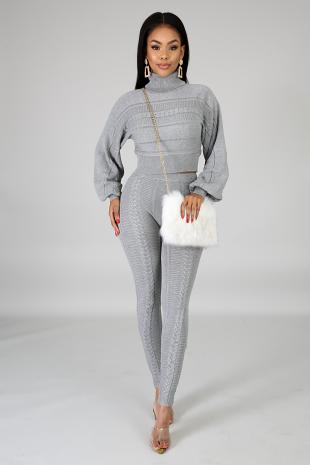 Knit Twist Legging Set