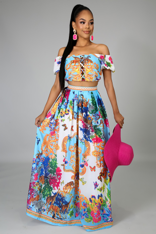 Butterfly Maxi Skirt Set