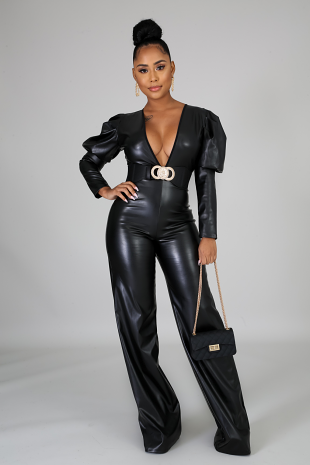 Smooth Like Leather Jumpsuit