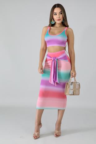 Beach Side Skirt Set