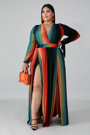 Venechia Print Maxi Dress