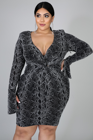 Fierce Glitter Body-Con Dress