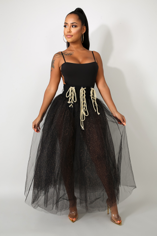 Wild Lace Tull Maxi Skirt