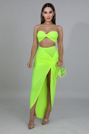 Twist Bow Skirt Set