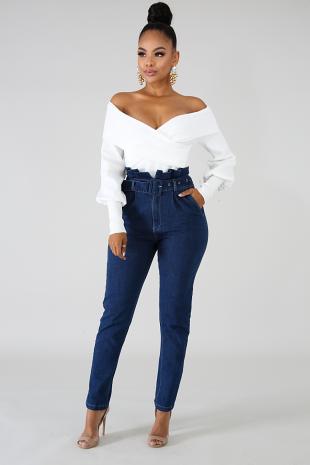 Boxy Slim Jeans