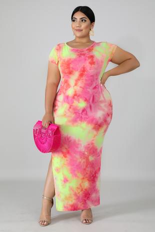 Sun Burst Tunic Dress