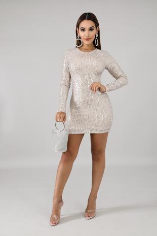 Sequin Stripes Body-Con Dress