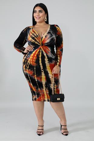 Twist Rustic Midi Dress