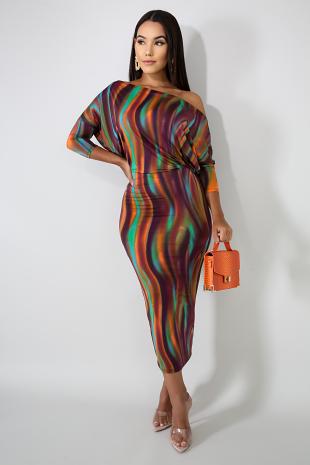 Swirled Dye Dress