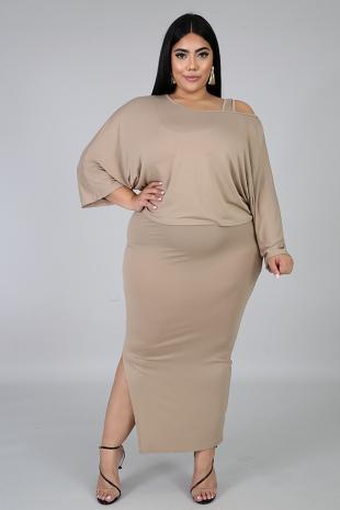Simple Midi Dress Set