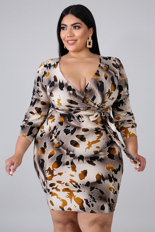 Autumn Body-Con Dress