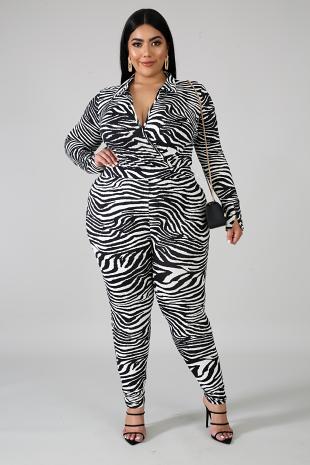 Fierce Stripes Bodysuit Set