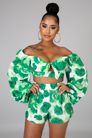 Water Lilly Short Set