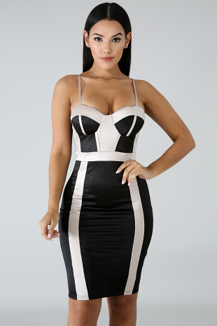 Silky Body-Con Dress