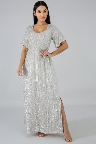 Sequin Drops Maxi Dress