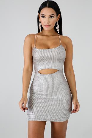 Crystal Clear Mini Dress