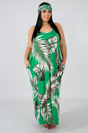 Havana Palm Maxi Dress