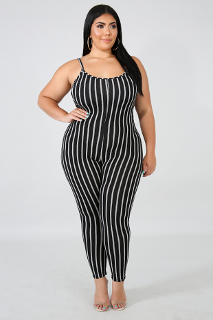 Flannel Stripe Jumpsuit