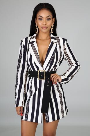 Blazin Blazer Chain Dress