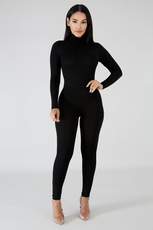 Long Sleeve Turtleneck Jumpsuit